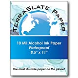 TerraSlate Paper 10 Mil 8.5'' x 11'' Alcohol Ink Art Paper 25 Sheets