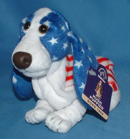 Hush Puppies American Flag Beanie Basset Hound Dog Puppy USA Uncle Sam Americana