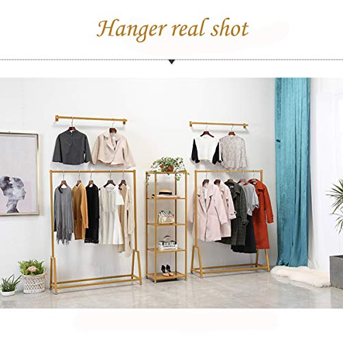 LINGYAN Mall Clothing Rack,Photo Studio Clothing Display Stand,Performance Costume Prop Display Stand,Balcony Drying Rack,Bedroom Hanger,Indoor Dry Hanger,Clothing Shelf,Metal Iron Frame (Gold) by LINGYAN (Image #5)