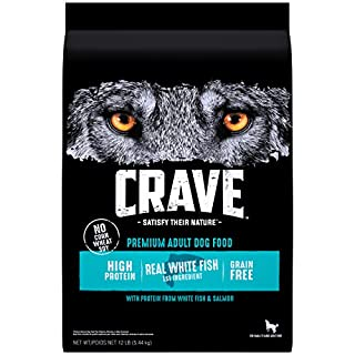 CRAVE Grain Free Adult High Protein Natural Dry Dog Food with Protein from Salmon and Ocean Fish, 12 lb. Bag