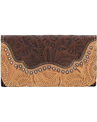 American West Women's Saddle Ridge Tri-Fold Wallet - 2615282