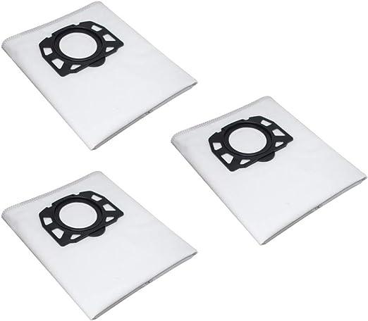 Sansee - Juego de 3 accesorios de robot de limpieza, bolsas de filtro de fleece para aspiradores en seco húmedo Karcher WD4, WD5, WD5, MV4, MV5, MV6: Amazon.es: Hogar
