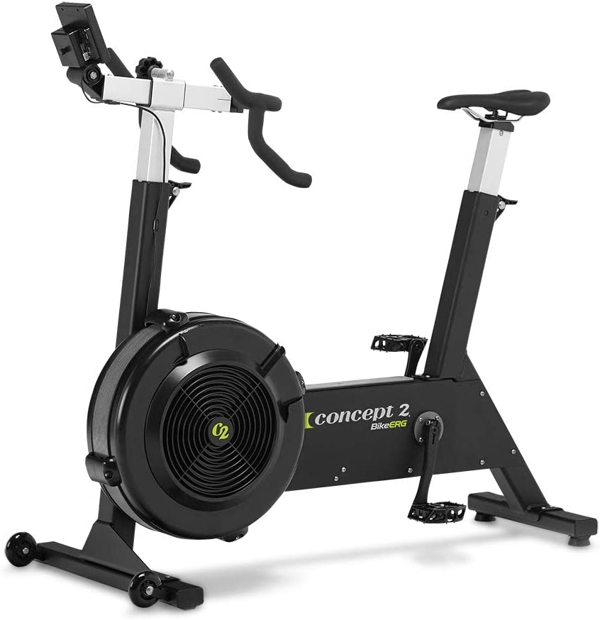 Concept2 BikeErg with PM5 Monitor, Stationary Exercise Bike with Adjustable Air Resistance for Exercise, Conditioning, and Strength Training Commercial and Home Use