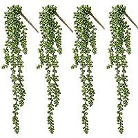 PUBAMALL Plantas suculentas Artificiales, Plantas suculentas Falsas Plantas de lágrimas de Amantes Colgantes, para el…