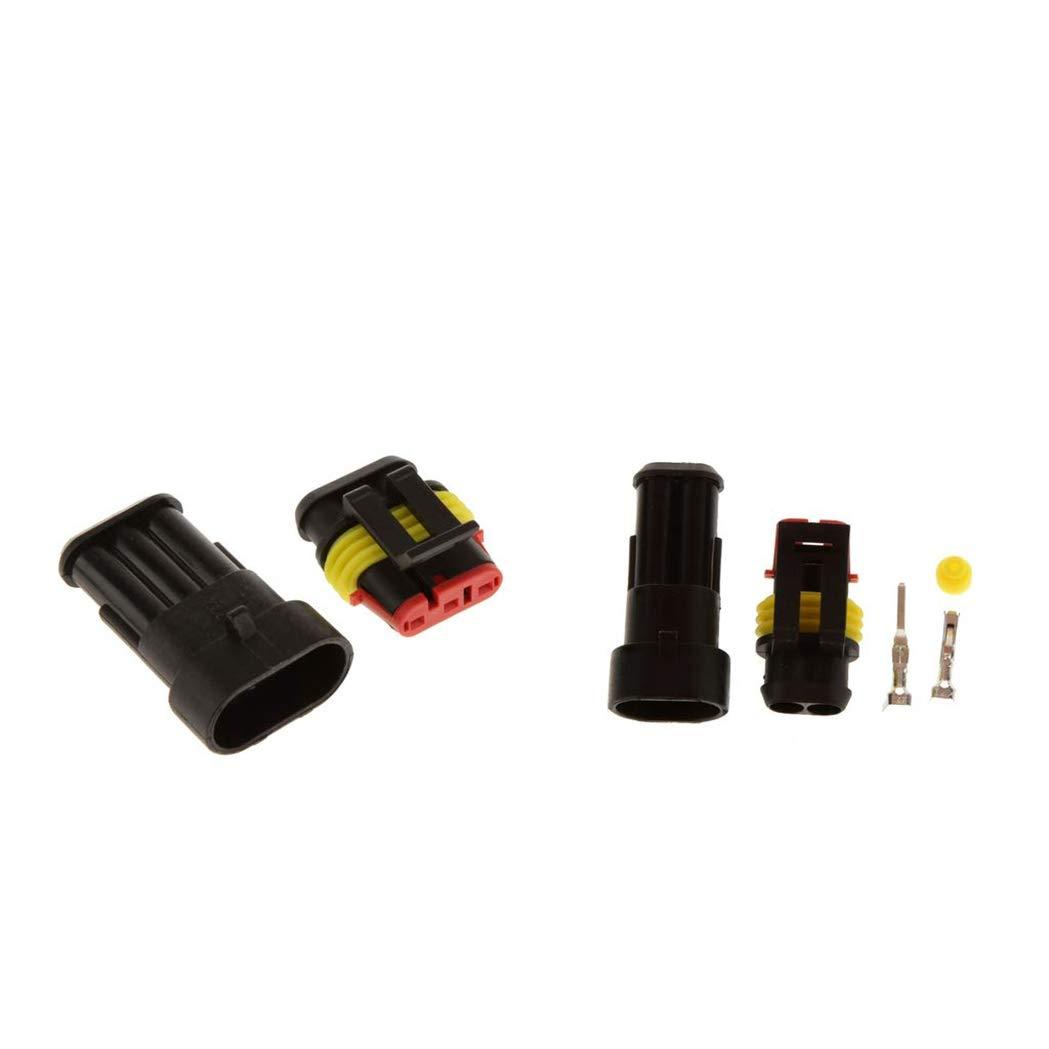 Morning May 10 Kit terminale 2//3 Pin connettore Elettrico Presa di Corrente Presa Auto Impermeabile