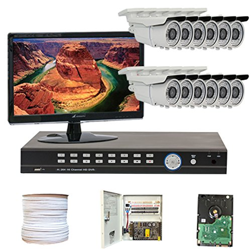 16-Channel-H264-960H-D1-Realtime-DVR-with-12-x-13-SONY-EXview-HAD-CCD-II-Camera-700-TV-lines-622mm-varifocal-lens-72pcs-IR-LED-196-ft-IR-Distance-Free-LED-Monitor-HDMI-VGA-960480-30FPS-recording-iPhon