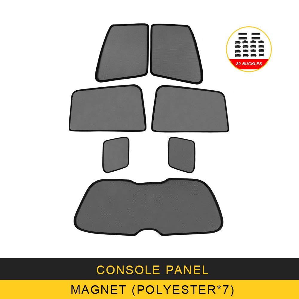 ANTEKE for Toyota Land Cruiser 2016 Car Sun Shade UV Protection Magnet Curtain Window Sunshade Side Mesh Sun Visor Summer (Mesh Curtain-[magnet7])