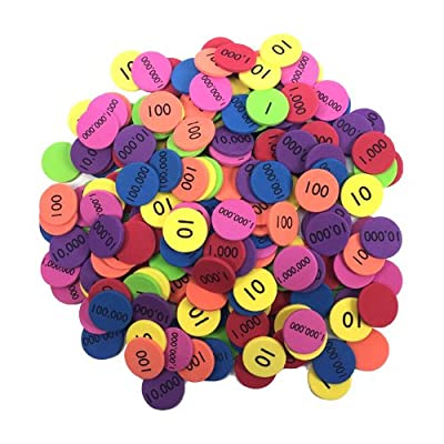 EAI Education QuietShape Foam Place Value Disks Ones to Millions: Set of 210: Toys & Games