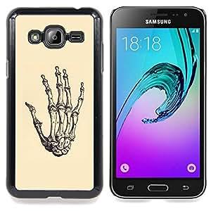 Ihec Tech Anatomía de la mano esqueleto óseo Muerte / Funda Case back Cover guard / for Samsung Galaxy J3 GSM-J300