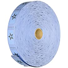 Fun Express Blue Single Roll Raffle Tickets with Star (2000 Piece)