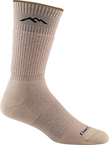 Darn Tough Vermont In-Town Series Men's Standard Issue Crew Socks Cushion, Tan, Medium