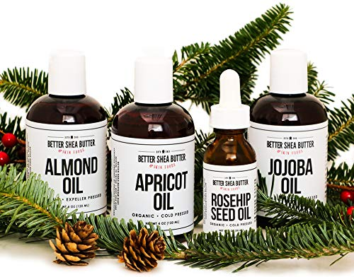 Almond, Apricot, Jojoba, Rosehip Seed Oil Set by Better Shea Butter