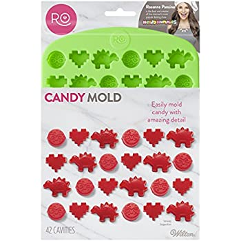 Rosanna Pansino Nerdy Nummies Silicone Candy Mold, 42-Cavity by Wilton