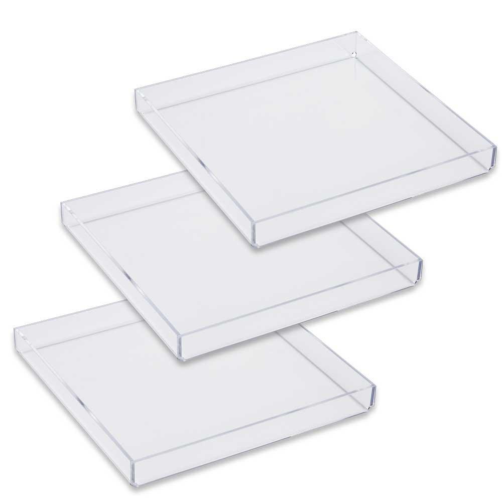 Mirart Acrylic Tray 8 x 8 (3 Pack)