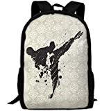 Taekwondo Double Shoulder Backpacks For Adults Traveling Bags Full Print Fashion
