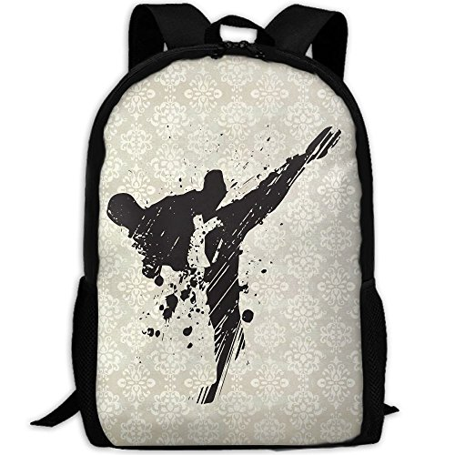 Taekwondo Double Shoulder Backpacks For Adults Traveling Bags Full Print Fashion by THIS STORE