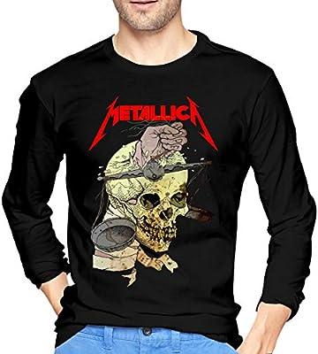 Sadfqw Metallica Athletic - Camiseta de Manga Larga para Hombre: Amazon.es: Deportes y aire libre