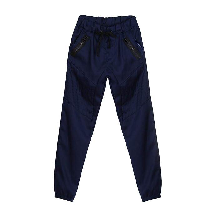 ZODOF Pantalones Casuales de los Hombres de la Cremallera de Moda ...