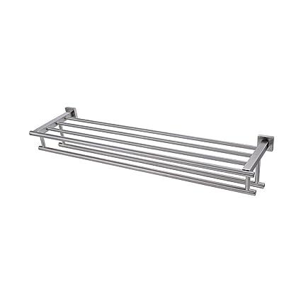 Amazon.com: KES Large Towel Rack, Towel Shelf with Two Bar (30 Inch ...