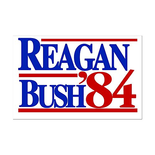 CafePress - Reagan Bush 1984 - Mini Poster Print (Reagan Bush 84 Poster compare prices)