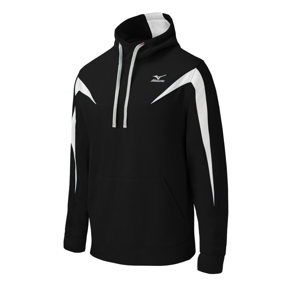 Mizuno Youth Elite Thermal Hoodie B016WFMQ5Sブラック/ホワイト Large
