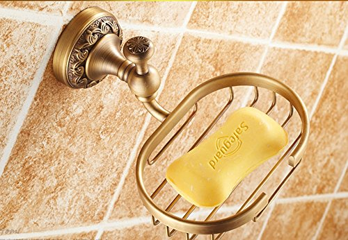 Hyun times All copper antique soap dish soap holder soap net soap dish Continental bathroom hardware pendant thickened Luxury by Hyun times Soap stand (Image #3)
