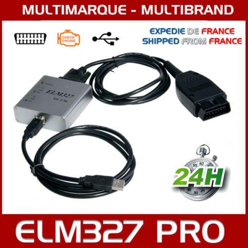 Mister Diagnostic® Interface diagnostic multimarque ELM 327 PRO USB OBD2 V1.5 + Logiciel FR ELM327