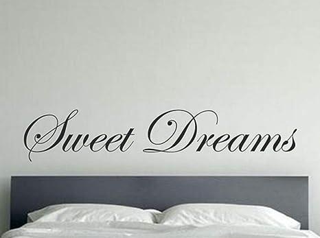 Gran tamaño letras letras Sweet Dreams vinilo pegatinas de pared ...