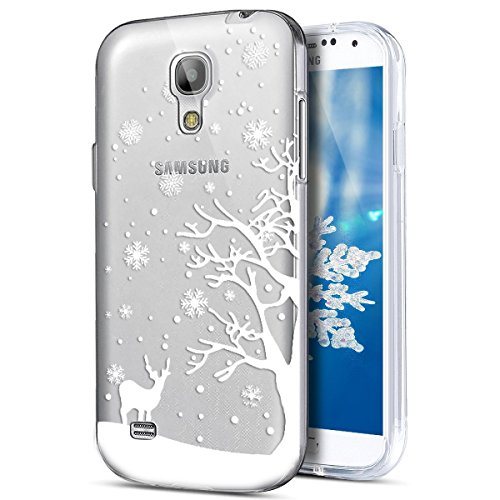 Funda Galaxy S4?SainCat Navidad copo de nieve serie Moda Alta Calidad suave de TPU Silicona Suave Funda Carcasa Caso Parachoques Diseño pintado Patrón paraSamsung Galaxy S4 [Serie de Navidad] TPU Sili Cervatillo