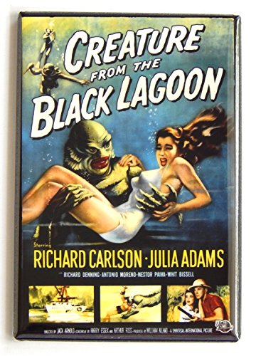 Creature from the Black Lagoon Movie Poster Fridge Magnet (2 x 3 inches)