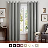 grey curtains for bedroom. Vangao Room Darkening Draperies Thermal Insulated Solid Grommet Top Window  Blackout Curtains Drapes panels for Bedroom Living Grey 52 Wx84 L 1 Panel Amazon com Treatments Home
