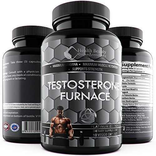 [* ANABOLIC TESTOSTERONE FURNACE * SUPER Strength Testo Booster - Hormone Boost - Rock Hard Lean Muscle Mass Growth – Estrogen Blocker – Sexual Libido Performance Enhancer Pills] (Growth Enhancer)