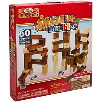 Ideal Amaze 'N' Marbles 60 Piece Classic Wood Construction Set
