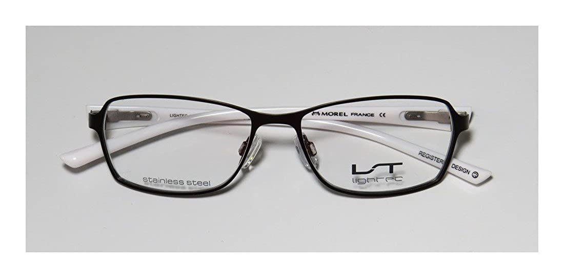 a4dfab84e9 Amazon.com  Lightec By Morel 7070l Mens Womens Designer Full-rim Flexible  Hinges Stainless Steel Popular Shape Eyeglasses Glasses (50-15-135