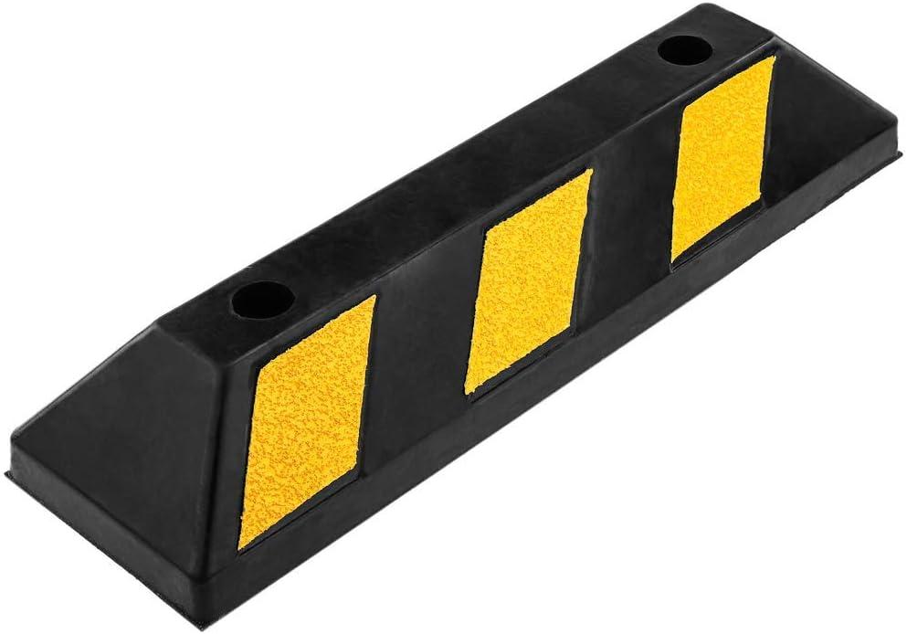 PrimeMatik - Tope de suelo para ruedas de parking aparcamiento de goma 55 cm
