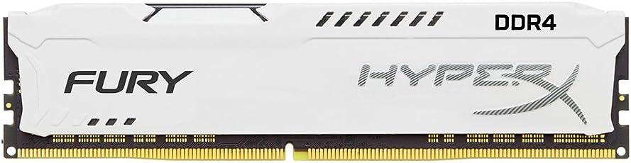 HyperX Fury White 16GB DDR4 2400MHz 16GB DDR4 2400MHz módulo de - Memoria (16 GB, 1 x 16 GB, DDR4, 2400 MHz, 288-pin DIMM, Blanco)