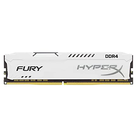 Kingston Technology HyperX FURY White 8GB 2400MHz DDR4 CL15 DIMM 1Rx8 (HX424C15FW2/8) Internal Memory Card Readers at amazon