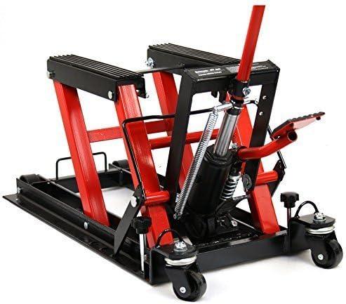 1500 lb Capacity ATV Motorcycle Lift Hydraulic Low Profile Swivel Jack Pump
