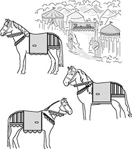 Horse Sewing Patterns - Suitability 9460 Medieval Horse Costume (with Breeching) Equestrian Sewing Pattern (Pattern Only)