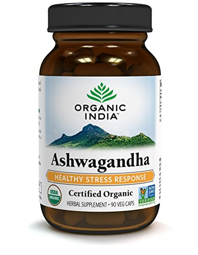 ORGANIC INDIA Ashwagandha Herbal Supplement (90 Capsules) – USDA Certified Veg Capsules for Relieving Stress, Anxiety, Insomnia. Vitamin and Dietary Supplements