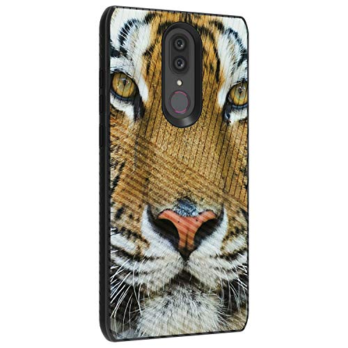 TurtleArmor | Compatible with Coolpad Alchemy Case | Coolpad Legacy Case | Engraved Grooves Shell Shockproof Hybrid Fitted TPU Case Animal Design - Tiger Stare