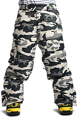 SOUTH PLAY Mens Premium Waterproof Ski SnowBoard Wear Pants Trousers CAMO