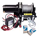 ReaseJoy 6000lbs (2721kgs) ATV Electric Recovery Winch Kit Wireless Remote Control 12V UTV Trailer Truck Ca