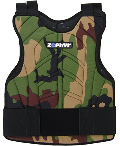 Zephyr Sports Padded Chest Protector - Reversible Woodland Camo (Best Paintball Chest Protector)