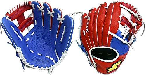 (SSK Baseball S19JBHBKI99 Javier Baez Web Pro Gloves, Black/Red/Royal, 11.5