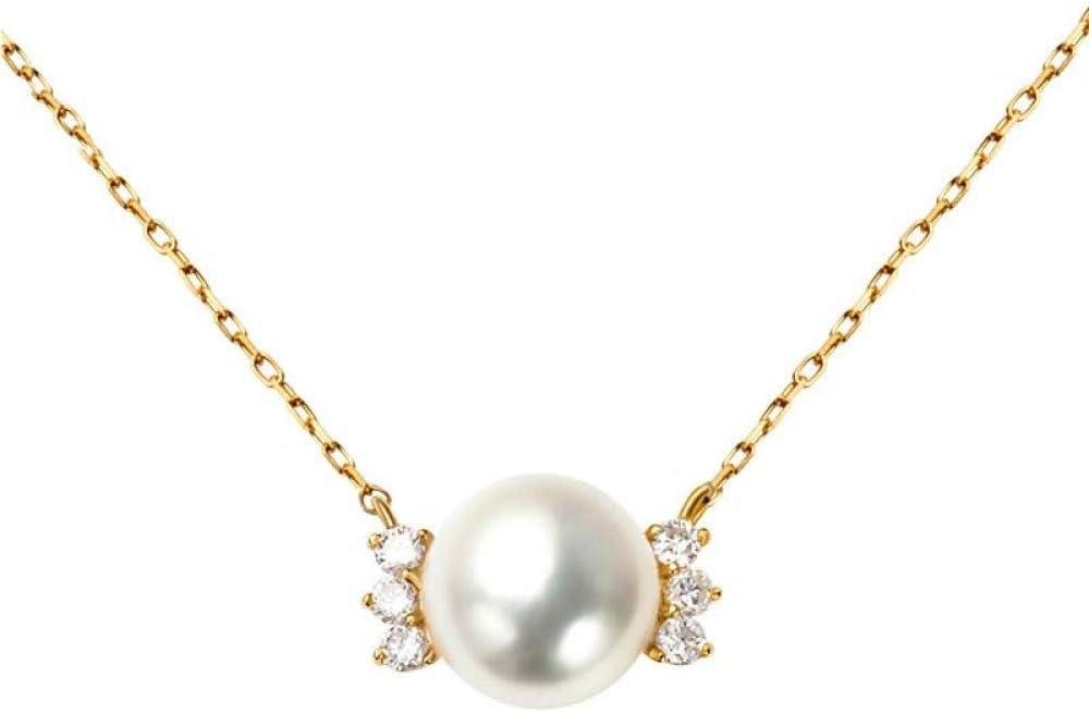 Circlefly Ligero japonés de lujo S925 colgante de plata dulce perla clavícula cadena Simple súper hada temperamento niña collar de plata esterlina