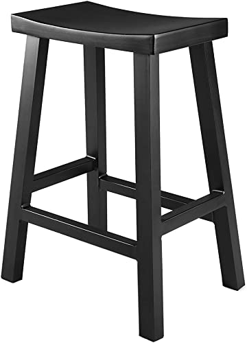 Renovoo Aluminum Saddle Seat Counter Stool, Commercial Quality, Matte Black Finish, 24 inches Seat Height, Indoor Outdoor Use, 1 Pack