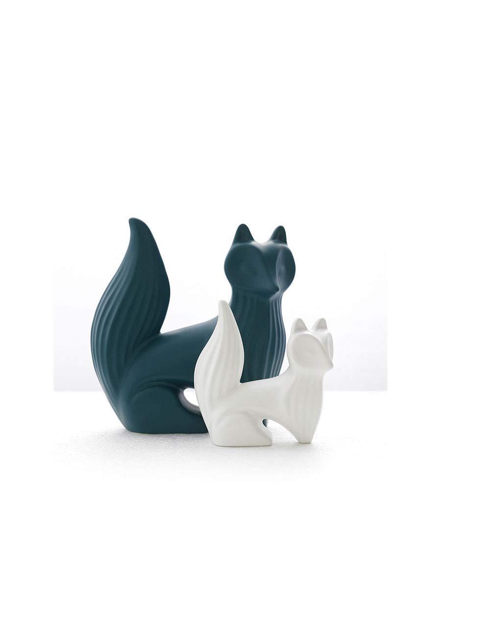 デスクトップデコレーションフォックス装飾装飾モダンミニマリストリビングルームオフィスポーチ創造的な研究動物の家具パーソナリティ   B07HQPHC84