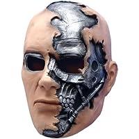 Accesorio para disfraz de máscara de terminador T-600, Plateado, Talla Única