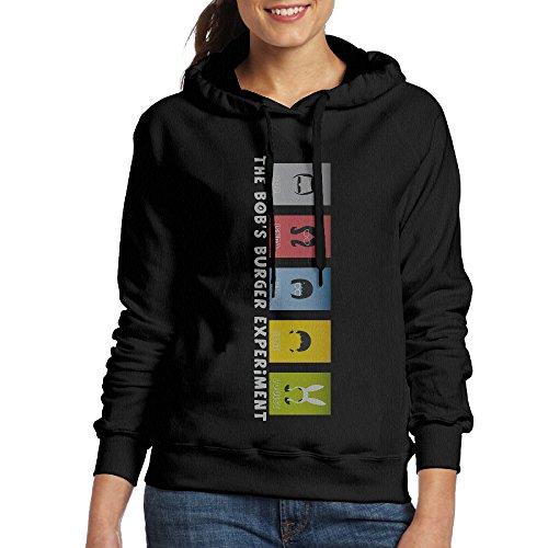 [YLS Women Animated Sitcom Bob's HamBurgers Camper Casual Style Hoodie Hooded Sweatshirt Size L] (Bobs Burgers Couples Costume)